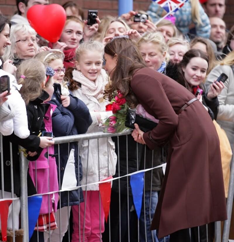 Kate visitó el puerto de Liverpool.
