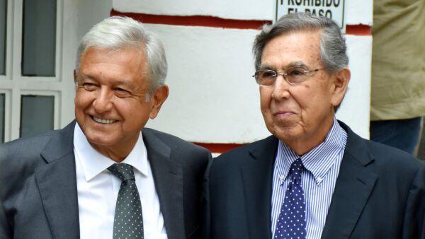 Andrés Manuel López Obrador y Cuauhtémoc Cárdenas.