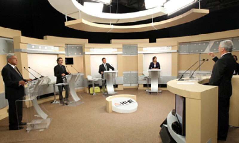 Los candidatos a la presidencia de la República iniciaron el debate en punto de las 20:00 horas.  (Foto: Notimex)
