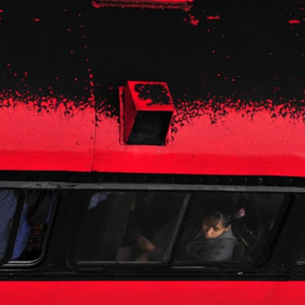 Autobus con cenizas en Guatemala