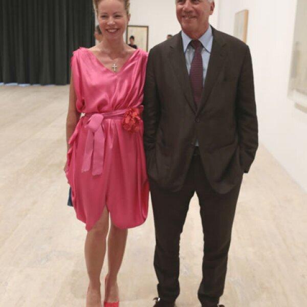 Christine Erph y Larry Gagosian.