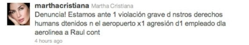 Martha Cristiana utilizó las redes sociales para enviar una llamada de auxilio.