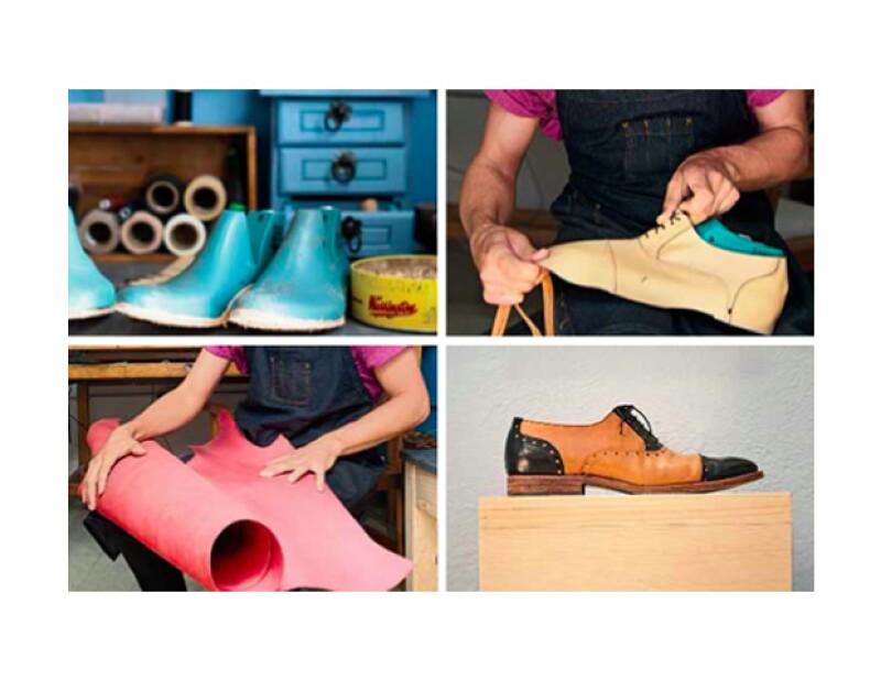 En su taller en Querétaro, Martín nos contó cada paso de este proceso, que va desde tomarle las medidas al cliente hasta hacer las agujetas, y tarda de seis a ocho días en hacer un par de zapatos.