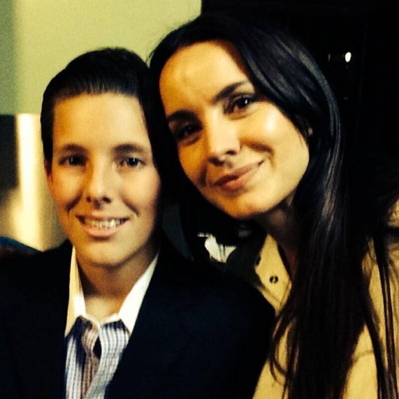 Alejandra es la gran cómplice de su hijo Luis Manuel.