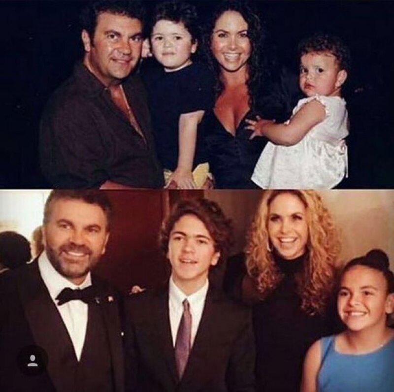 La actriz mexicana posteó un comparativo que deja a la vista cuánto han crecido sus hijos en pocos años.