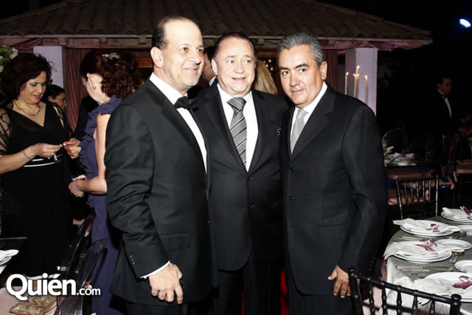 Héctor Slim, Alfredo Carrillo y Jorge Rojo