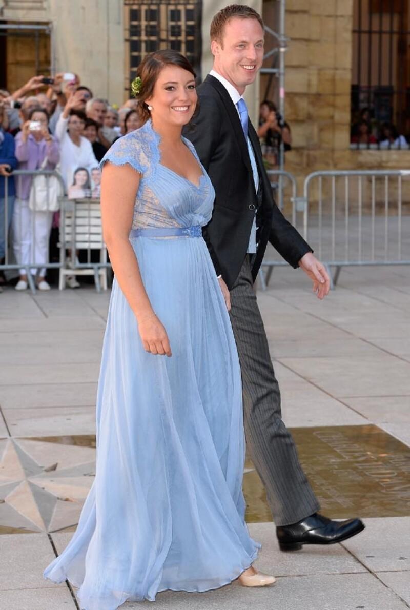 La princesa Alexandra utilizó el mismo vestido en septiembre pasado.