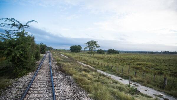 Así luce hoy la zona donde se construirá la Estación Escárcega