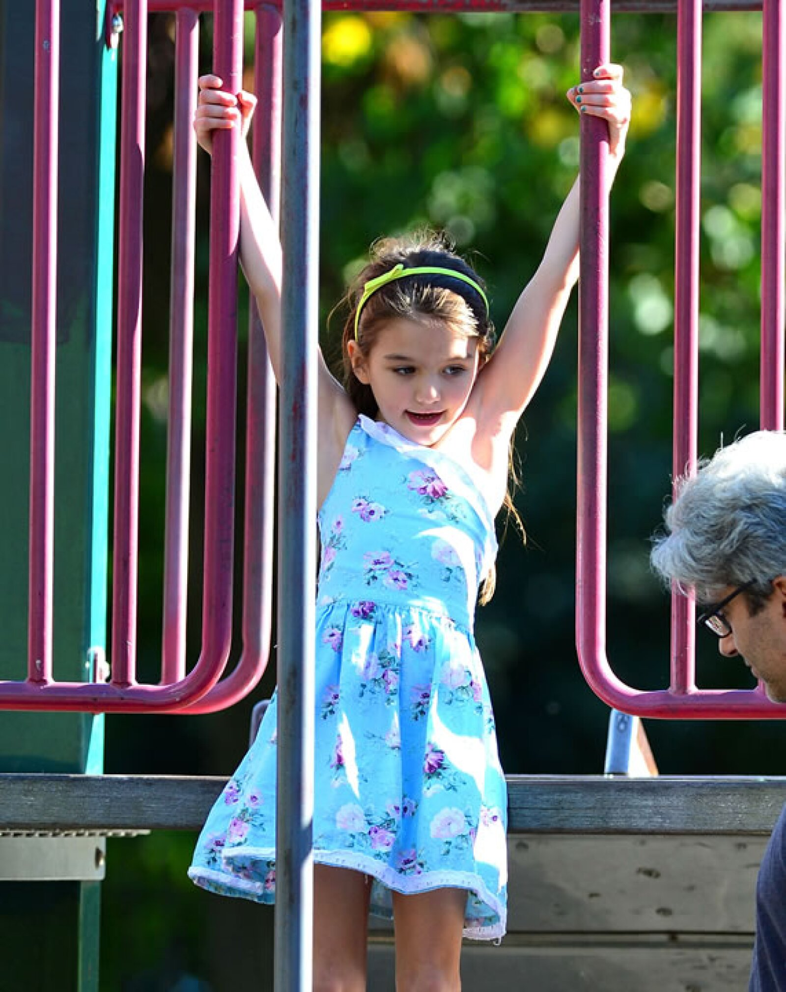 Jugando en el parque.