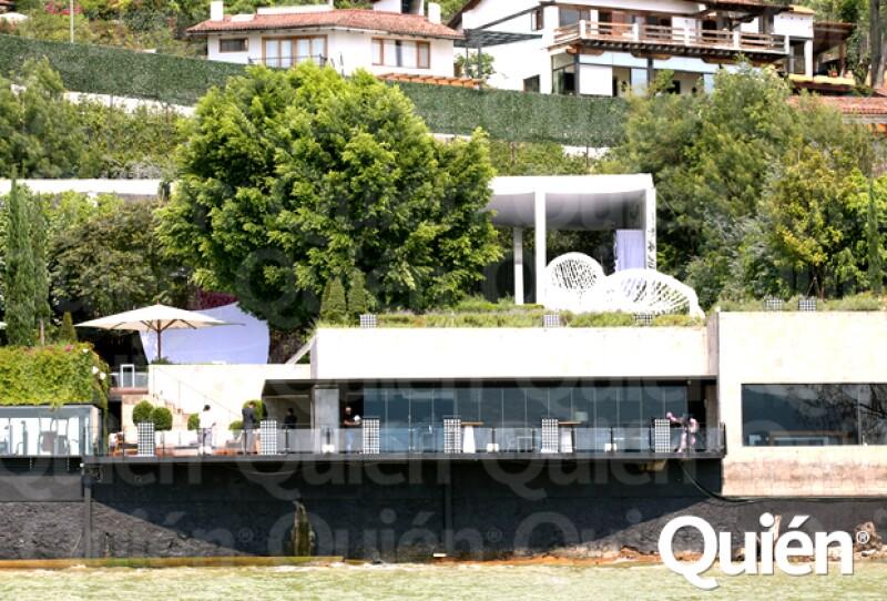 Así luce la residencia de Valle de Bravo para la boda de Eva y Pepe.