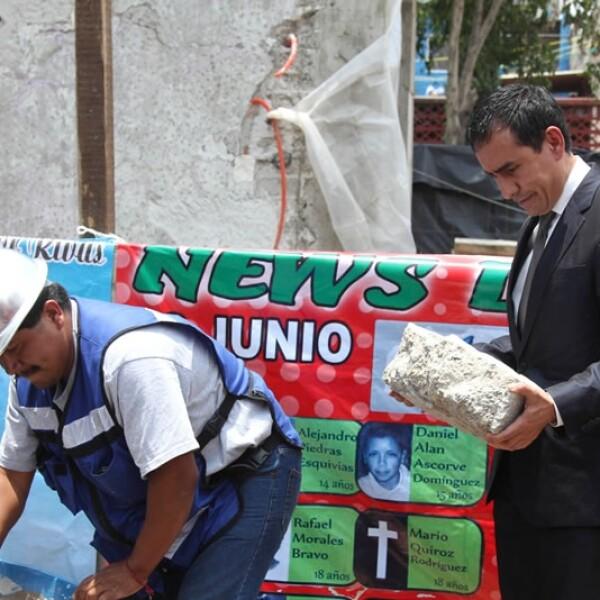 memoriales, news divine, primera piedra