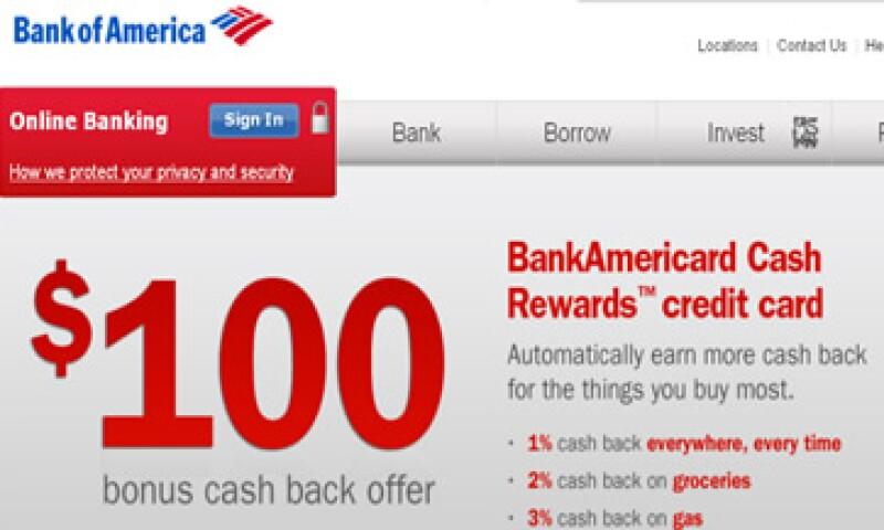 BofA dijo que algunos clientes podrían experimentar una lentitud ocasional al navegar por el sitio.  (Foto tomada de bankofamerica.com)