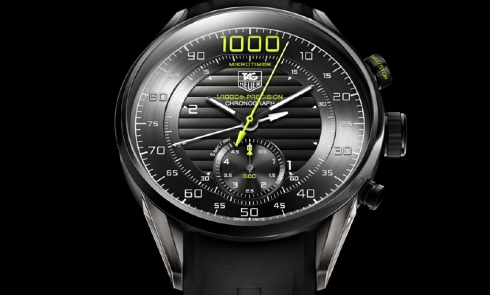 La firma suiza recibió el premio al 'Mejor reloj deportivo' en el Grand Prix de Ginebra 2011 por esta pieza, que es capaz de medir la milésima del segundo de una forma mecánica.