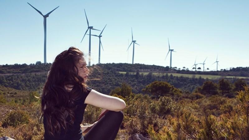 medio ambiente molinos energía eólica