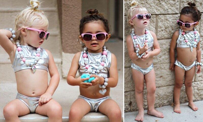 A pesar de su corta edad, estas pequeñas imponen estilo con sus poses como todas unas modelos profesionales, e incluso han llegado a ser comparadas con Kendall Jenner y Gigi Hadid.