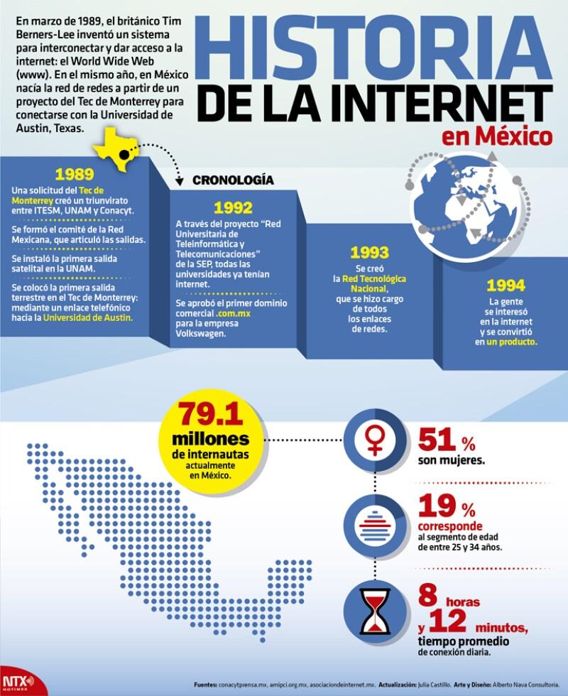 Infografía del Internet