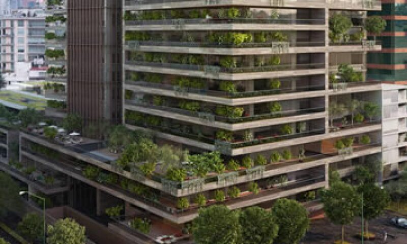 Una ilustración del desarrollo inmobiliario que Abilia llevará a cabo en un sector de lujo de Polanco, en la Ciudad de México (Foto: Abilia/Cortesía )
