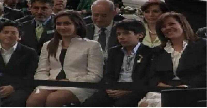 Los hijos del presidente y Margarita Zavala se mostraron felices por el mensaje que les dirigió su papá.