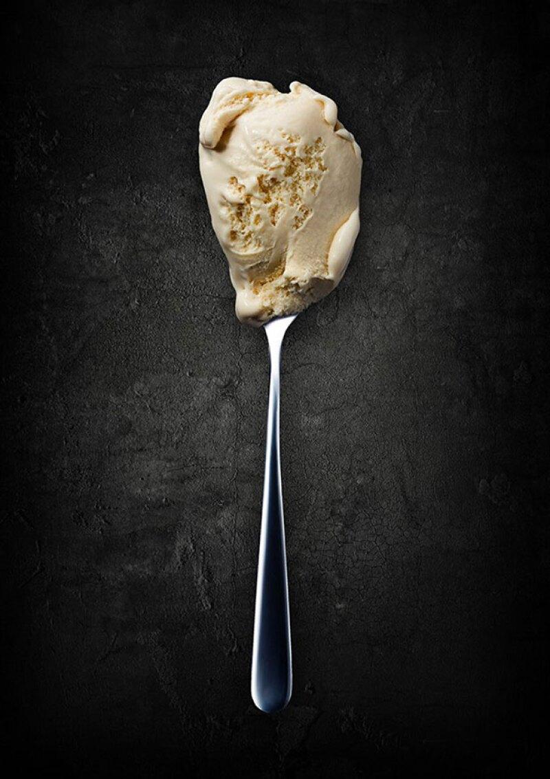 El sabor vainilla ha sido el elegido para este helado.