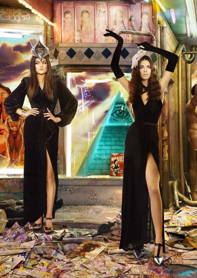 Kendall y Kylie lucen muy guapas con vestidos largos negros.