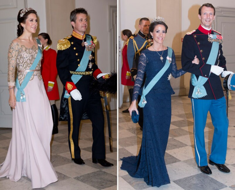 Los príncipes Federico y Joaquín con sus respectivas parejas.