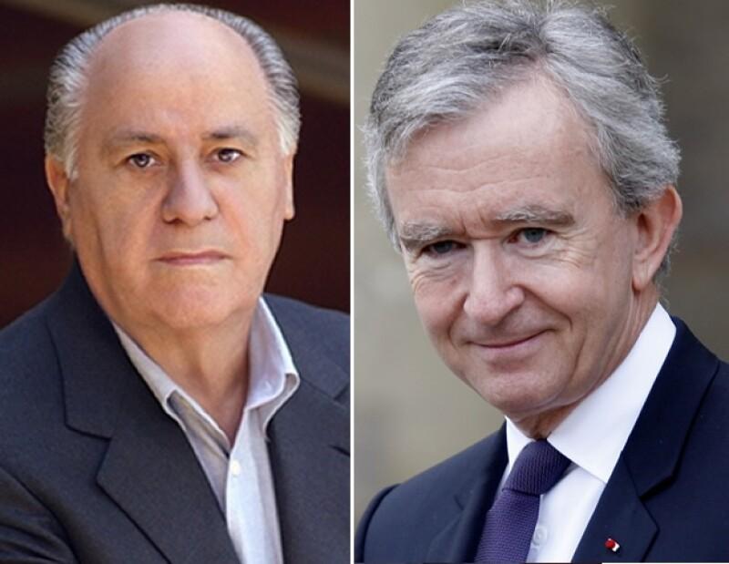 El empresario español ha sido el millonario que más ha aumentado su fortuna en el último año mientras que Bernard Arnault dueño LVMH descendió seis puestos.