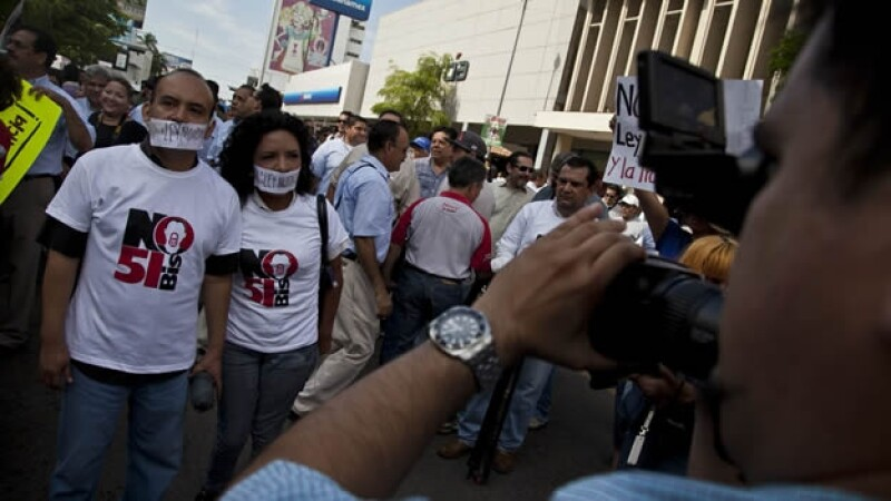Periodistas marcha-sinaloa ley mordaza