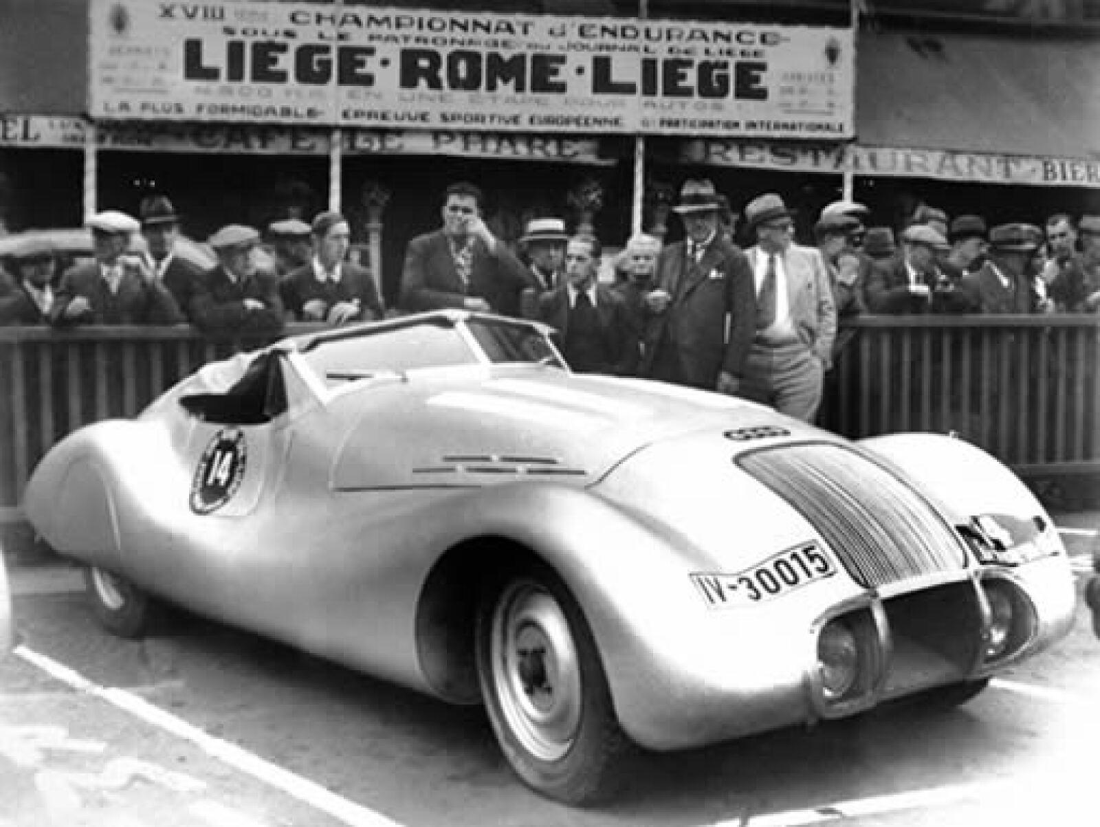 Un Wanderer Streamline Special de 1939 en la carrera Liége en Roma.