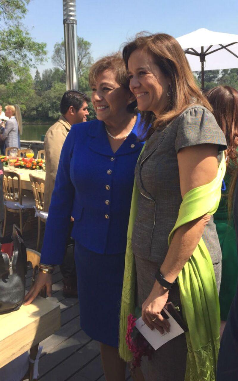 Margarita convivió con invitadas y homenajeadas en el evento.