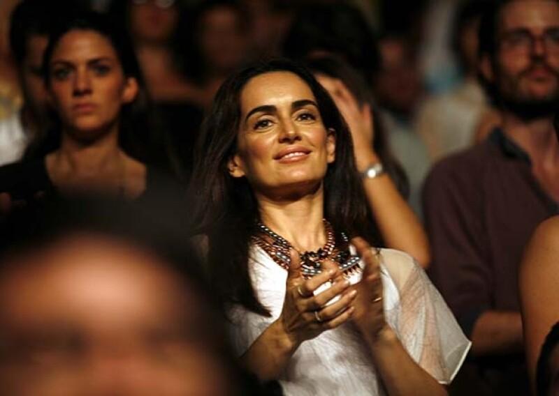 Ana de la Reguera disfrutó el concierto junto a los demás invitados.