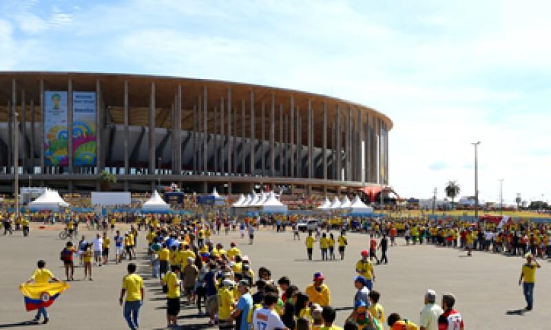 El Estadio Nacional de Brasilia fue el más costoso del Mundial brasileño, cuya ciduad no tiene equipo de futbol. (Foto: Getty Images)