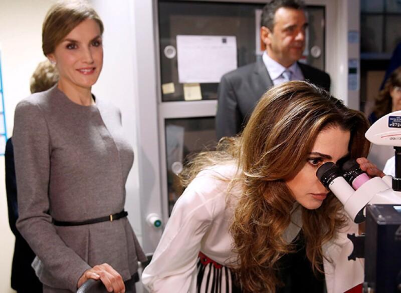 Durante su visita al Centro de Biología Molecular.
