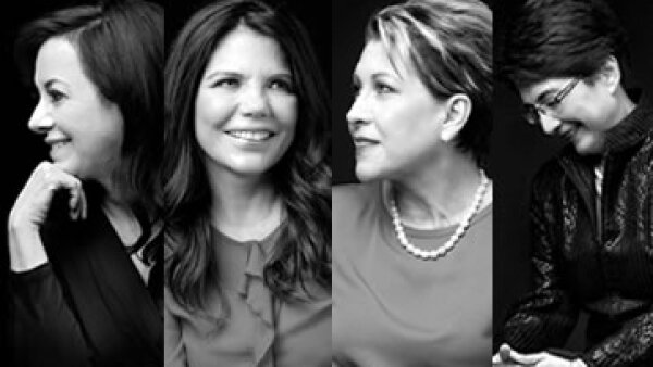 La directora de Finanzas de Bio Pappel-Scribe, la CEO de Nicxa, la directora de American Airlines y la CEO de Chevron Energía México. (Foto: Duilio Rodríguez, Jesús Almazán / Expansión)