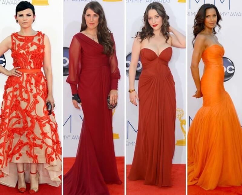 Amarillos, azules y grises en distintas tonalidades dominaron la alfombra roja de los premios más esperados de la televisión. Checa qué famosa usó qué.