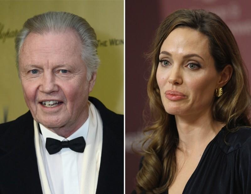 Angelina y su papá se ronconciliaron por el bien de los niños.