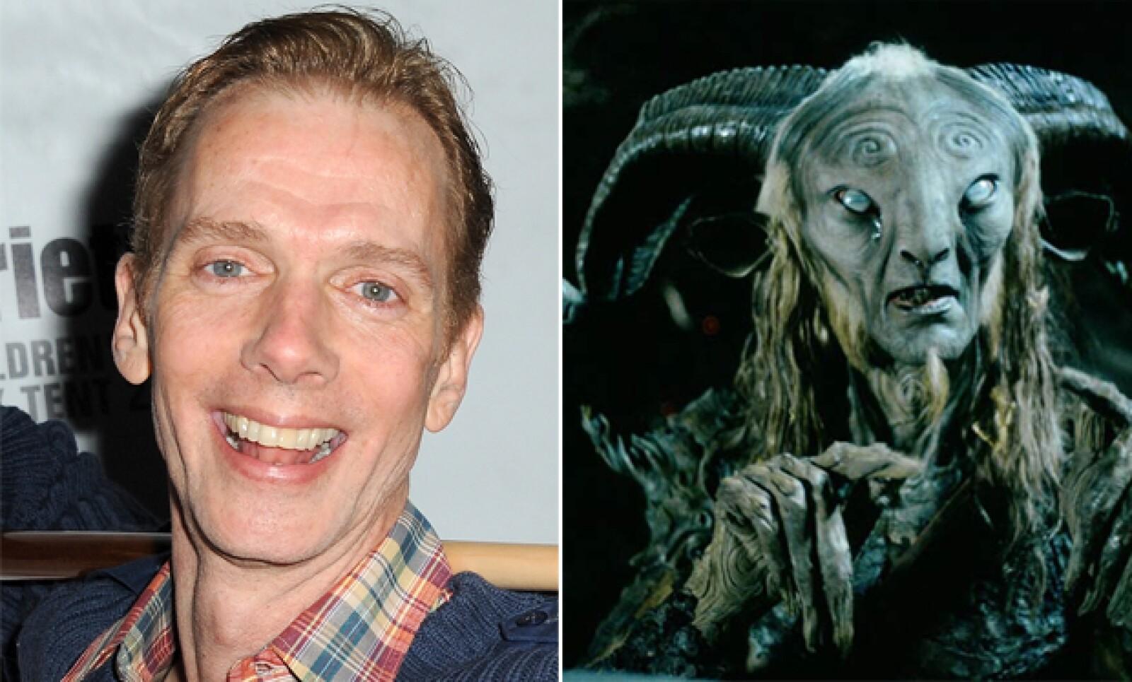 Doug Jones es quien da vida al fauno en la obra maestra de Guillermo del Toro. Totalmente irreconocible.