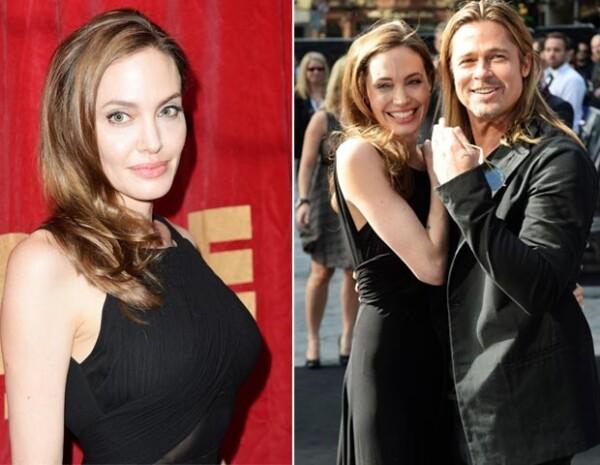 La pareja acudió al estreno de Guerra Mundial Z, la cual protagoniza Brad Pitt.