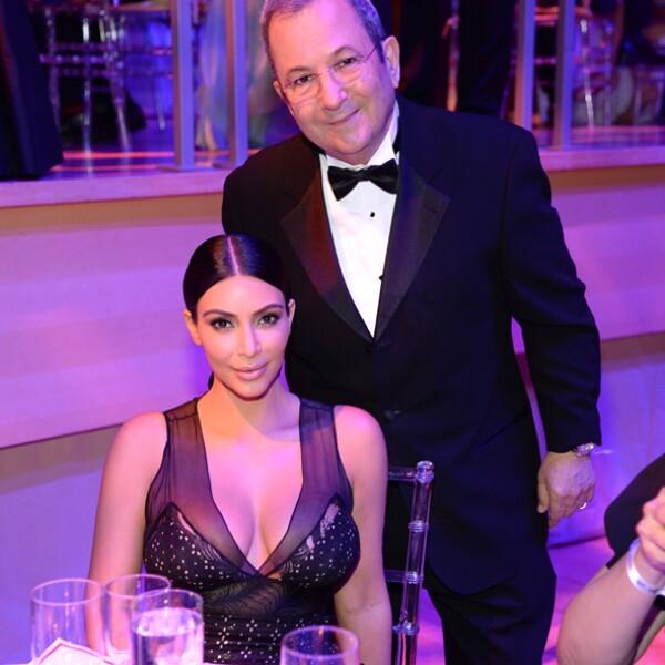 Ehud Barak y Kim Kardashian