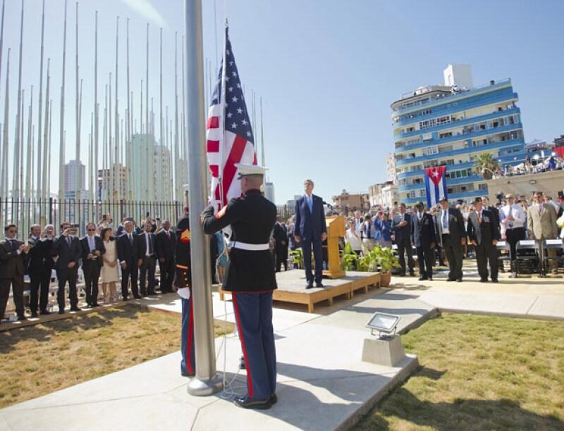 El secretario de Estado, John Kerry, encabezó este viernes la ceremonia de reapertura de la Embajada de EU en Cuba.