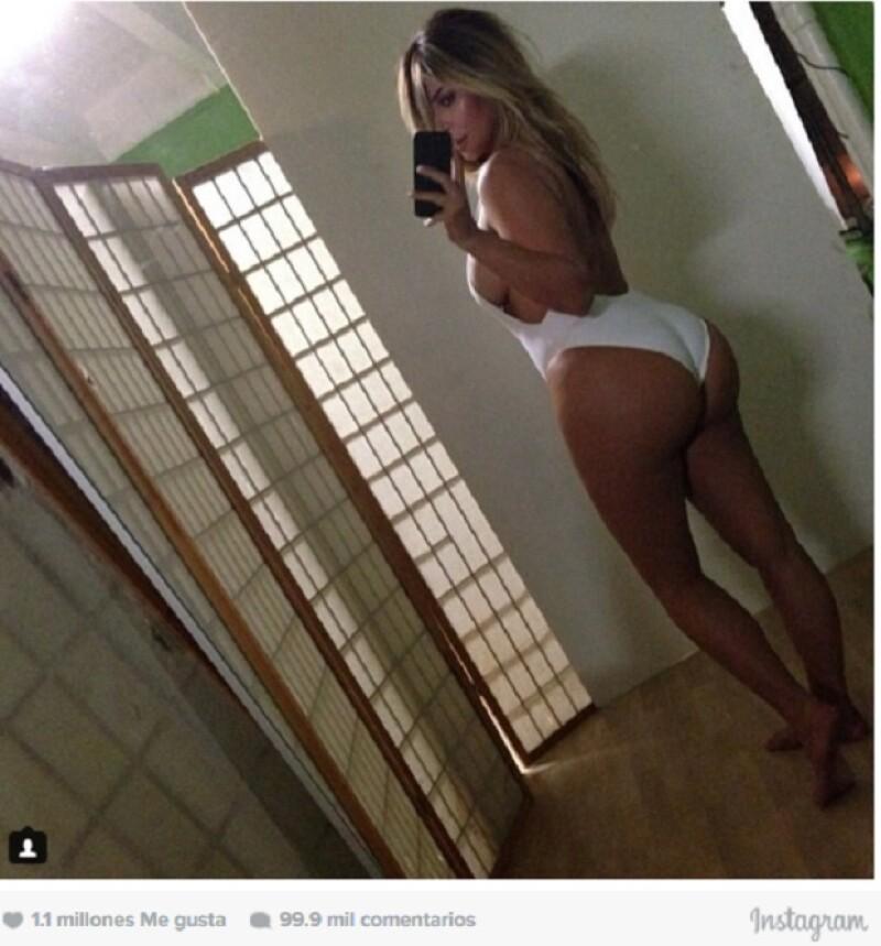 Con esta foto, Kim no solo mostró su cuerpo post-baby, sino también hizo regresar a casa a Kanye.