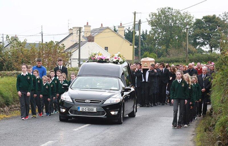 Cientos de personas se dieron cita para darle el último adiós.