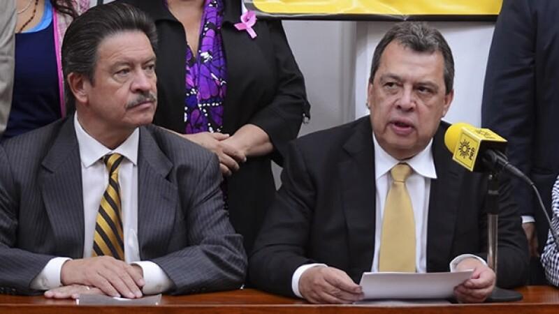 Carlos Navarrete y Ángel Aguirre, PRD