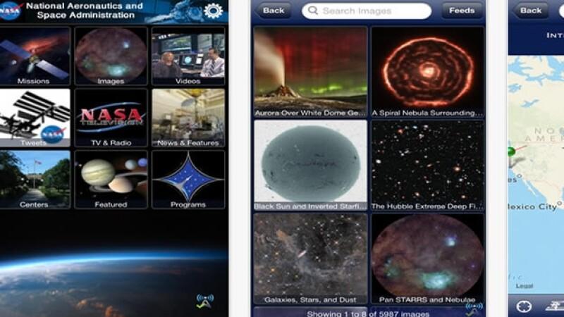 NASA aplicacion app espacio iphone android