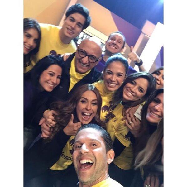 Galilea Montijo y Alan Tacher figuraron entre los mexicanos que viajaron para apoyar la causa en Univisión.