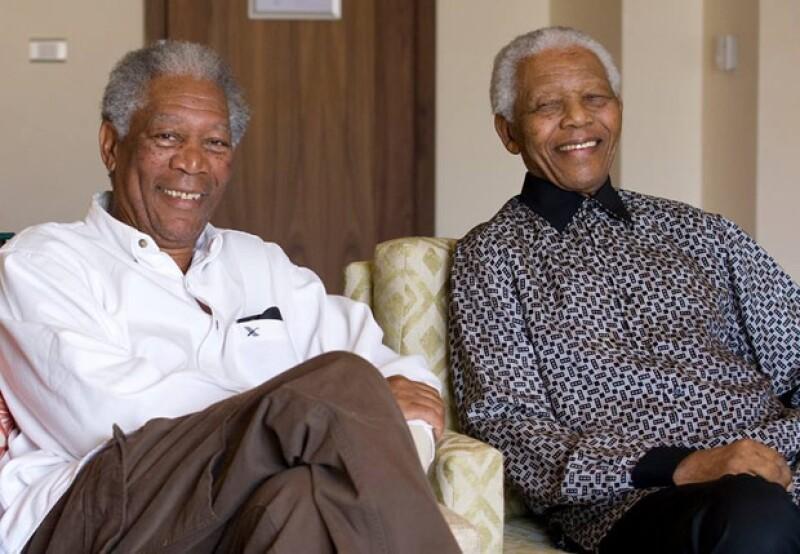 """Morgan Freeman interpretó a Mandela en 2009 en la película """"Invictus""""."""
