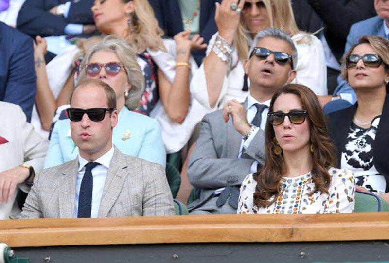 Los duques de Cambridge también estuvieron presentes en la final de Wimbledon para apoyar a Murray, quien resultó el ganador.