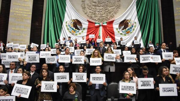 Protesta San Lázaro Presupuesto