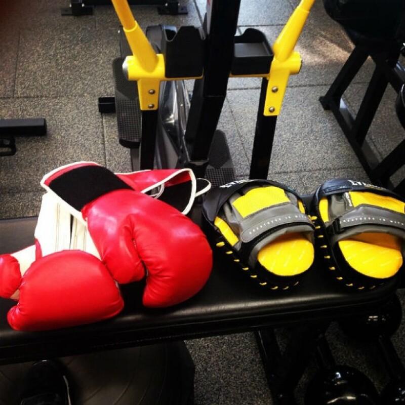 Con esta imagen, Khloé se dijo lista para ponerse los guantes de box y entrenar.