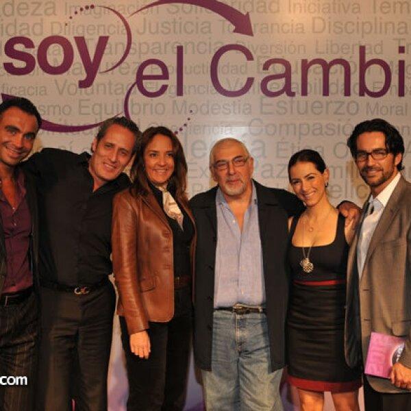 Diego Di Marco, Andrés Portillo, Sabrina Herrera, Jorge Bucay, Claudia Lizaldi y Eamonn Sean Kneeland