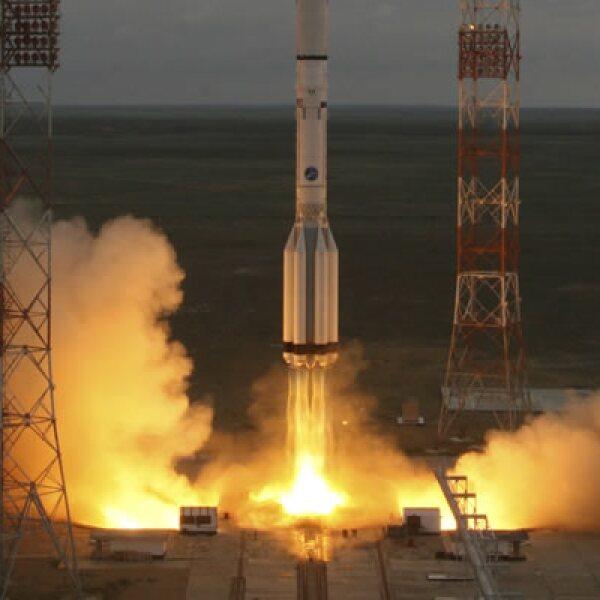El cohete había despegado a las 00:47 del sábado 16 de mayo, tiempo del centro de México, del cosmódromo de Baikonur, Kazajistán.